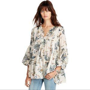 Denim & Supply Floral Print Gauze Tunic